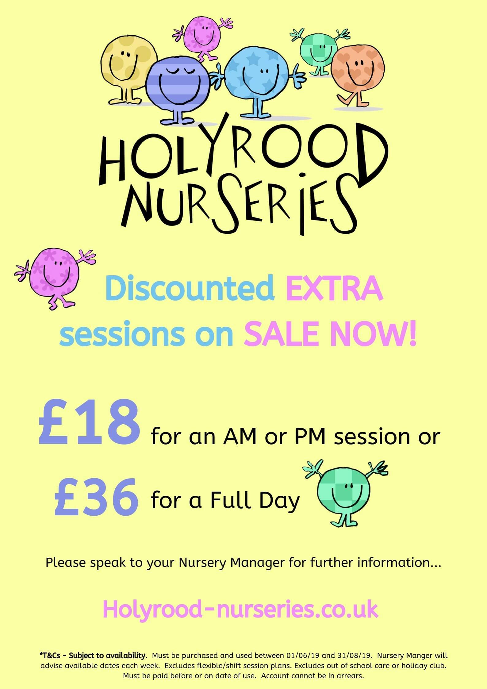 discounted nursery session at holyrood nurseries
